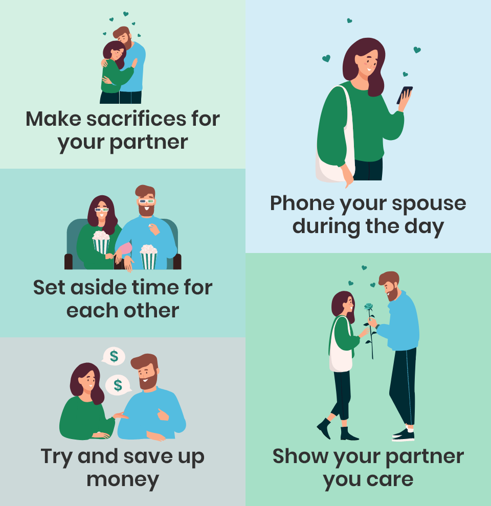 Relationship advice for busy couples infographic