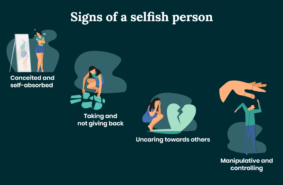 Signs of a selfish person